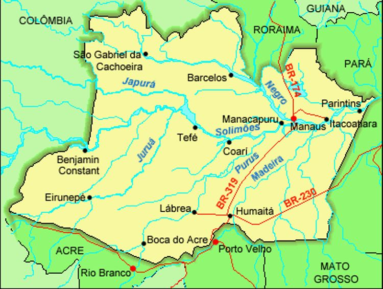 Mapa do Amazonas