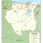 Mapa do Suriname