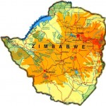 Mapa de Zimbábue