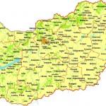 Mapa da Hungria