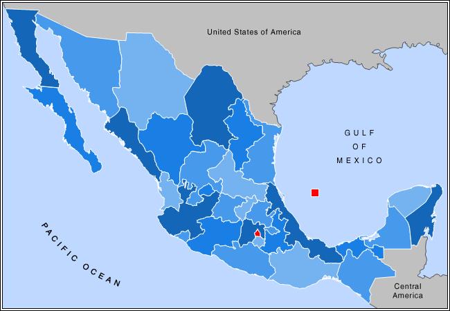Mapa do México