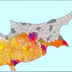 Mapa do Chipre