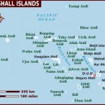 Mapa das Ilhas Marshall