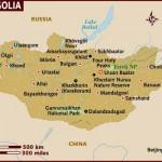 Mapa da Mongólia