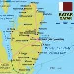 Mapa do Catar