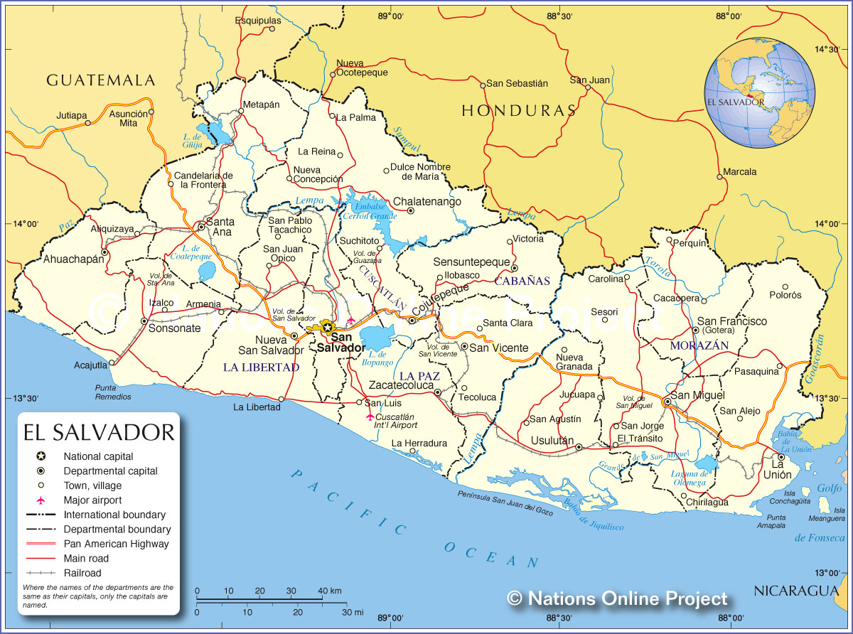 Mapa de El Salvador