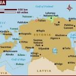 Mapa da Estônia