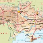 Mapa da Ucrânia