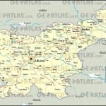 Mapa da Eslovênia