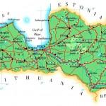 Mapa da Letônia