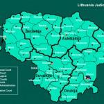 Mapa da Lituânia