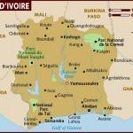 Mapa da Costa do Marfim