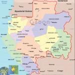 Mapa do Gabão