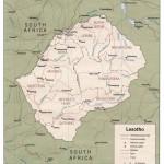 Mapa de Lesoto
