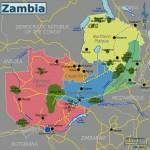 Mapa da Zâmbia