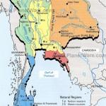 Mapa da Tailândia