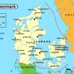 Mapa da Dinamarca
