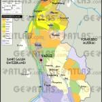 Mapa de Liechtenstein