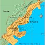 Mapa de Mônaco