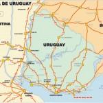 Mapa do Uruguai