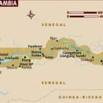Mapa da Gâmbia