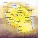 Mapa da Tanzânia