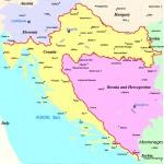 Mapa da Croácia
