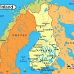 Mapa da Finlândia