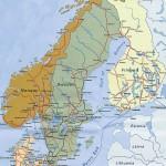 Mapa da Noruega