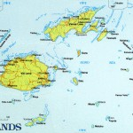 Mapa das Ilhas Fiji