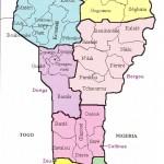 Mapa de Benin
