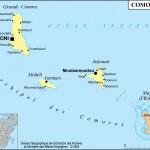 Mapa de Comores