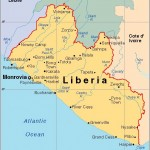 Mapa de Libéria