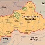 Mapa da República Centro-Africana