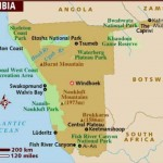 Mapa da Namíbia