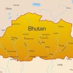 Mapa de Butão