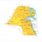 Mapa do Kuwait