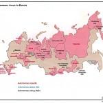 Mapa da Rússia