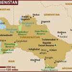 Mapa do Turcomenistão