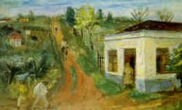 Alfredo Volpi - Mogi das Cruzes, 1939