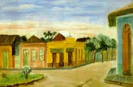 Alfredo Volpi - Sem Título (Rua de Itanhaém), c. 1940