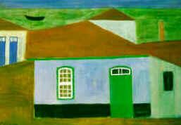 Alfredo Volpi - Casas na Praia (Itanhaém), 1952