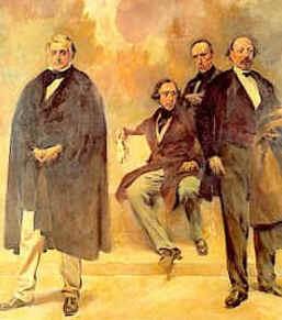Passos Manuel, Almeida Garrett, Alexandre herculano e José Estevão de Magalhães por Columbano Bordalo Pinheiro