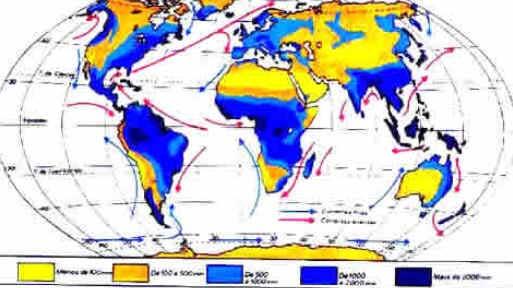 Distribuição das precipitações no mundo