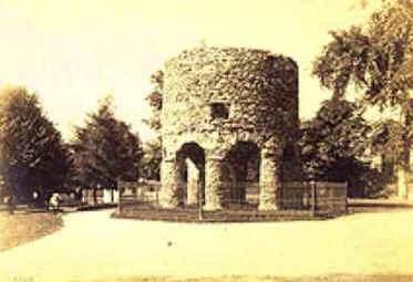 Torre de Newport Foto de cartão estereográfico de William Herman Rau (1855-1920) - da coleção de James Baker, de Newport/EUA