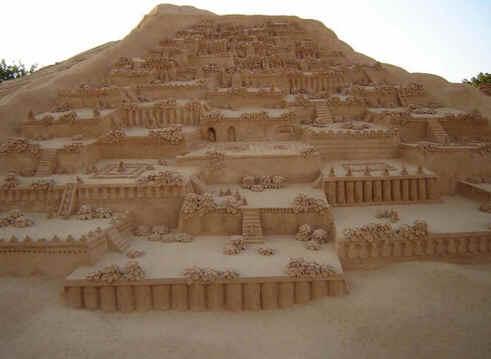 Escultura de areia dos Jardins Suspensos da Babilônia