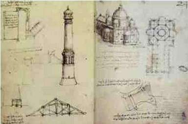Estudos de Arquitetura - Leonardo da Vinci