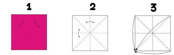 Siga as dobras conforme a imagem acima.