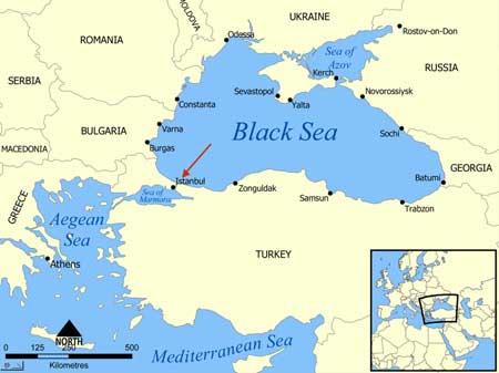 Mapa do Mar Negro