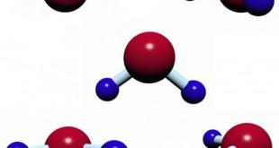 A água perfeitamente destilada contém apenas moléculas de hidrogênio e oxigênio.